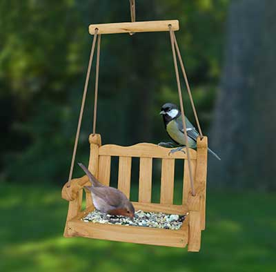 swing seat bird feeder british bird lovers. Black Bedroom Furniture Sets. Home Design Ideas