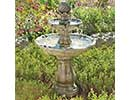 Classical Solar Powered Bird Bath
