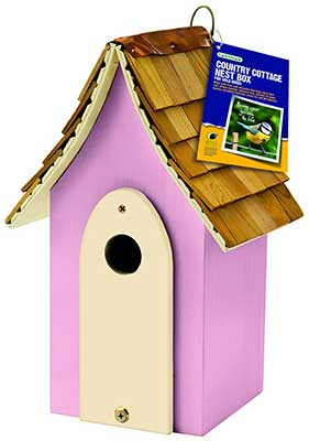Pink Country Cottage Nest Box
