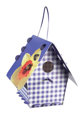 Tweet Tweet Home Purple Gingham Bird House