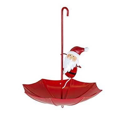 Santa Umbrella Bird Feeder
