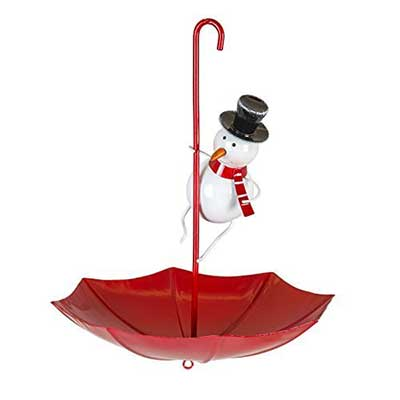 Snowman Umbrella Bird Feeder