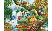 Exotic Friends Jigsaw Puzzle