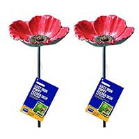 Gardman Wild Poppy Dish Bird Feeders