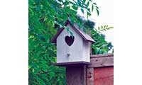 Heart Wooden Birdhouse