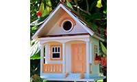 Peaches And Cream Cottage Bird House
